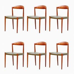 Sillas de teca de Harbo Sølvsten para J.C.A. Jensen / Knud Andersen, años 60. Juego de 6