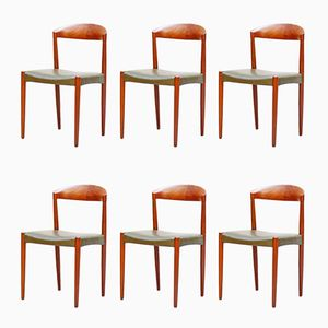 Teak Chairs by Harbo Sølvsten for J.C.A. Jensen / Knud Andersen, 1960s, Set of 6