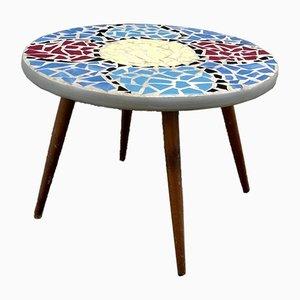 Tavolo vintage in ceramica e cemento