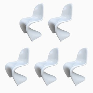 Chaises par Verner Panton pour Horn Collection, 1983, Set de 5