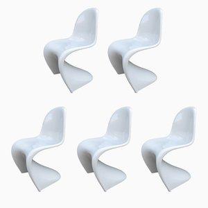 Stühle von Verner Panton für Horn Collection, 1983, 5er Set