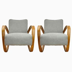 H-269 Armchairs by Jindřich Halabala for UP Závody, 1950s, Set of 2