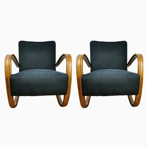 Black H-269 Lounge Chairs by Jindřich Halabala for up Závody, 1950s, Set of 2