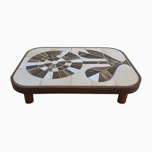 Ceramic Coffee Table by Roger Capron, 1970s