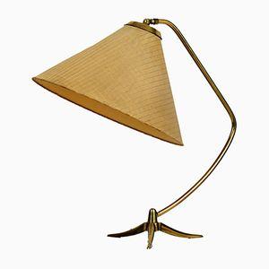 Dreibeinige Tischlampe aus Messing von Kalmar, 1950er