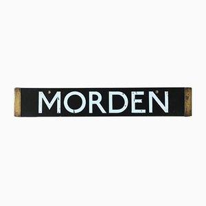 Insegna della fermata Morden, High Barnet della metropolitana di Londra, 1938