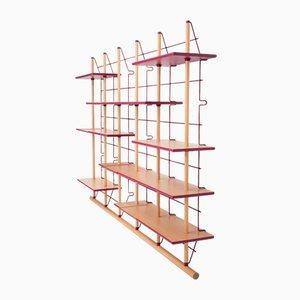 Librería Memo de madera laminada de Vittorio Passaro para Passaro Edizioni