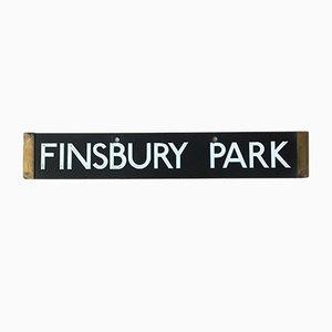 Insegna della fermata Finsbury Park, Euston della metropolitana di Londra 1938