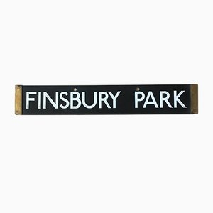Londoner Finsbury Park & Euston Tube-Schild, 1938