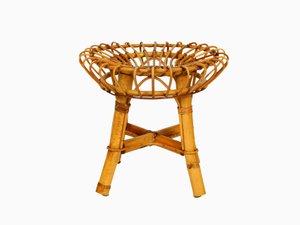 Taburete de bambú, años 60