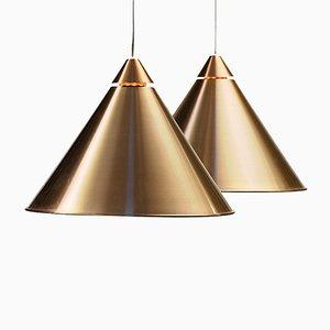 Lámparas colgantes de aluminio de Haga belysning, años 70. Juego de 2
