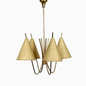 Brass Ceiling Lamp by J. T. Kalmar for Kalmar, 1960s