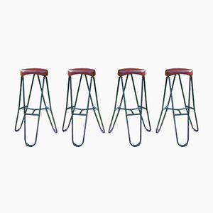 Vintage Bar Stools, Set of 4