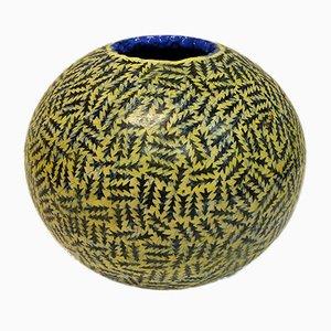Vaso rotondo in ceramica di Tor Alex Erichsen, Norvegia, 1991