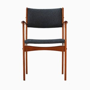 Teak Armchair with Anthracite Upholstery, 1960s