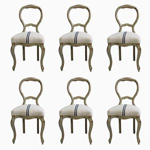 Antique Swedish Side Chairs, Set of 6