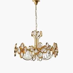 Lámpara de araña vintage de Gaetano Sciolari para Palwa