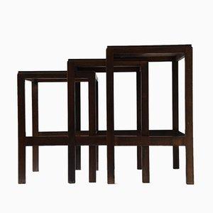 Tavolini a incastro di Wilhelm Renz, anni '30, set di 3