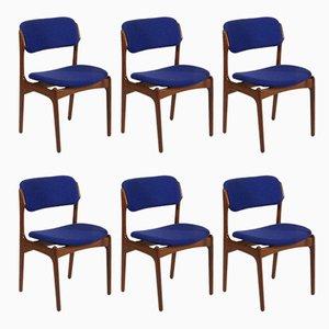 Dänische OD-49 Stühle von Erik Buch für Oddense Maskinsnedkeri, 1960er, 6er Set