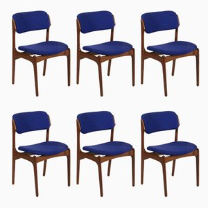 Danish OD-49 Chairs by Erik Buch for Oddense Maskinsnedkeri, 1960s, Set of 6