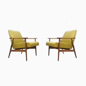 Apfelgrüne Sessel, 1960er, 2er Set