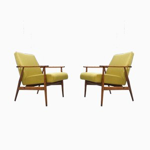 Apple Green Lounge Chairs, 1960s, Set of 2