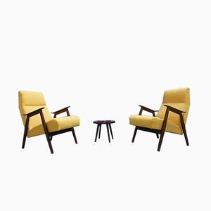 Yellow Lounge Chairs, 1960s, Set of 2