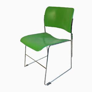 Chaise 40/4 Verte Vintage par David Rowland pour General Fireproofing
