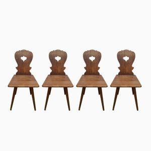 Französisch Stühle aus Eiche, 1970er, 4er Set
