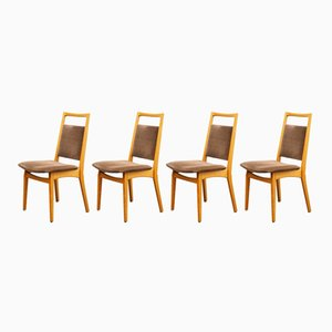 Cherry Dining Chairs, 1960s, Set of 4