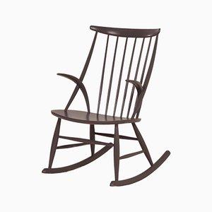 Danish IW3 Rocking Chair by Illum Wikkelsø for Niels Eilersen, 1950s