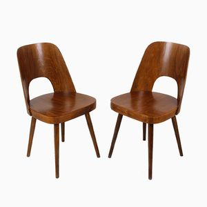 No. 515 Wooden Chairs by Oswald Haerdtl for TON, 1950s, Set of 2