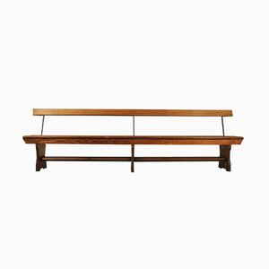 Antique Victorian Church Pew Tram Bench