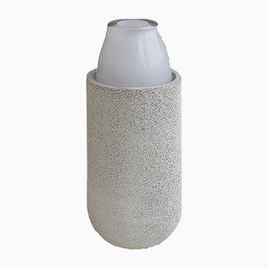 Vaso medio bianco della collezione Nordic Mood di Ekin Kayis