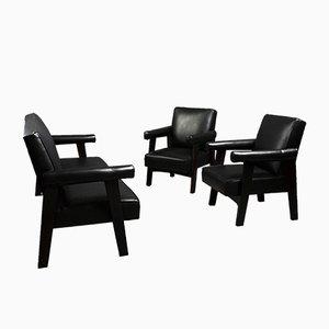 Sofa & 2 Sessel von Pierre Jeanneret