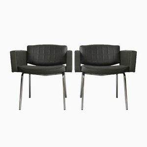 Vintage Conseil Armchairs by Pierre Guariche for Meurop, Set of 2