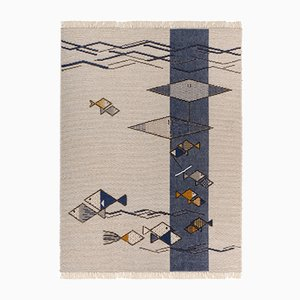 Tappeto mediterraneo di Paulina Herrera per Mariantonia Urru