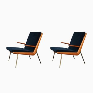 Vintage FD 135 Boomerang Chairs von Peter Hvidt & Orla Mølgaard-Nielsen für France & Søn, 2er Set