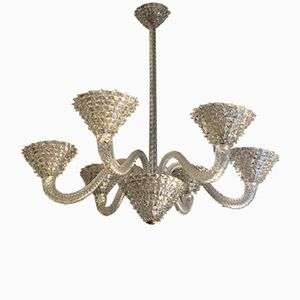 Chandelier from Barovier & Toso, 1940s