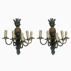 Vintage Pineapple Wall Lights from Maison Charles & Fils, Set of 2