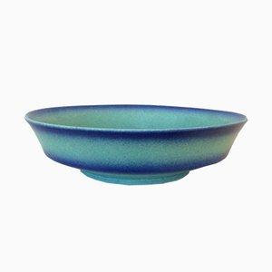 Piatto grande blu in ceramica blu di Margaret Marks per Hael-Werkstatten, Germania, anni '30