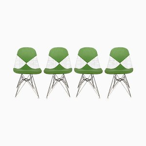 DKR Bikini Wire Chairs by Charles & Ray Eames for Herman Miller, 1950s, Set of 4