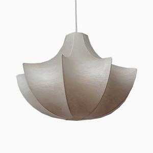 Organische italienische kokonförmige Hängelampe aus Kunststoffhaut, 1970er