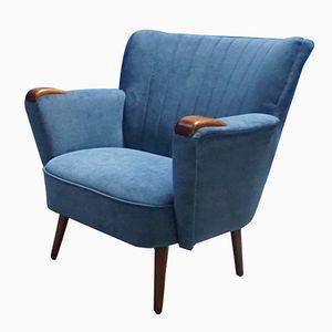 Chaise en Forme de Coquillage Bleue, 1950s