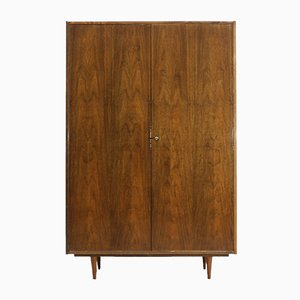 Mid-Century Polished Walnut Wardrobe, 1960s
