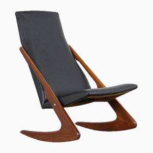 Mid-Century Boomerang Rocking Chair from Mogens Kold