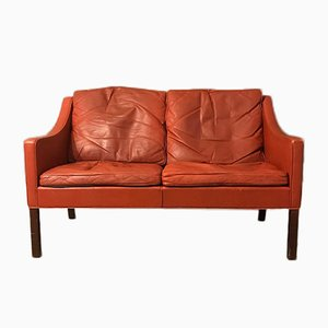 Leather Model 2208 Sofa by Børge Mogensen for Fredericia, 1970s