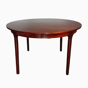 Mid-Century Rosewood Extending Circular Dining Table from McIntosh, 1970s
