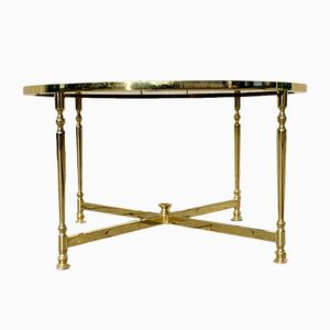 Brass Coffee Table with a Smoked Glass Top from Lysberg, Hansen & Therp, 1970s