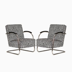 Vintage Steel Cantilever Chairs from Mücke Melder, Set of 2
